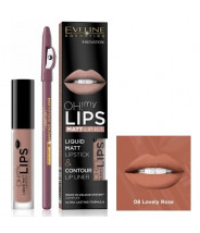 EVELINE OH MY LIPS SET ZA USNE BR. 8 LOVELY ROSE