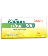 KALIJUM CITRAT TABLETE 20X500MG