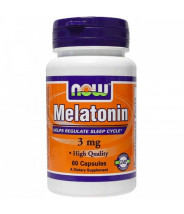 NOW MELATONIN KAPSULE 3MG A60