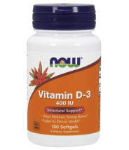 NOW VITAMIN D-3 400IU KAPSULE A180
