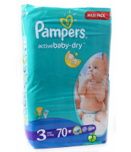 PAMPERS ACTIVE BABY-DRY PELENE (3) A70