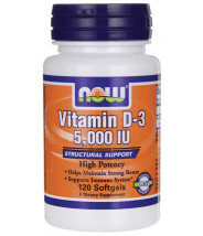 NOW VITAMIN D-3 5000IU KAPSULE A120