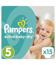 PAMPERS ACTIVE BABY DRY JUNIOR 5 PELENE 11-18KG A15