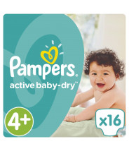 PAMPERS ACTIVE BABY-DRY PELENE MAXI 4+ A16