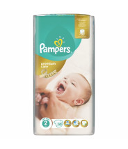 PAMPERS PREMIUM CARE PELENE 3-6KG A50