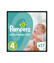 PAMPERS ACTIVE BABY-DRY MAXI PELENE A17