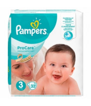 PAMPERS PRO CARE 3 MIDI PELENE A32