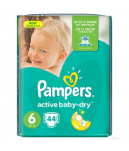 PAMPERS ACTIVE BABY-DRY EXTRA LARGE PELENE 15+ A44